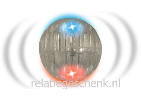 Stuiterbal Met Licht : Verlichte stuiterbal met led zonder boing geluid blauw