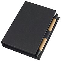 Memo box with pen POP UP, black